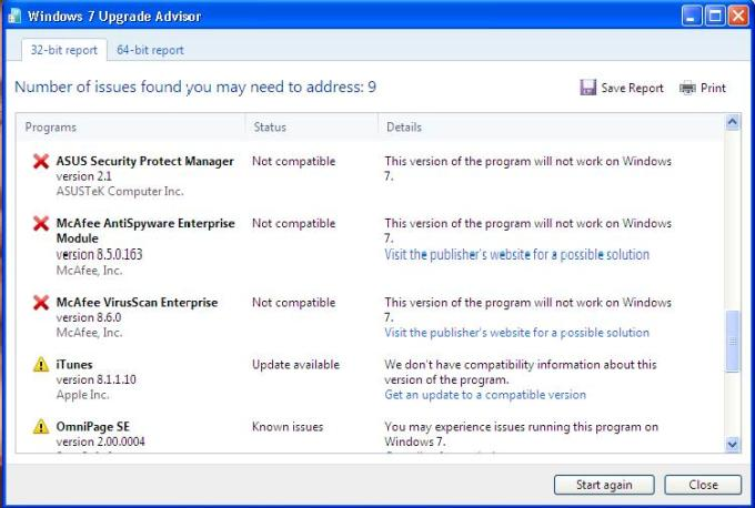 windows 7 upgrade advisor screen-4