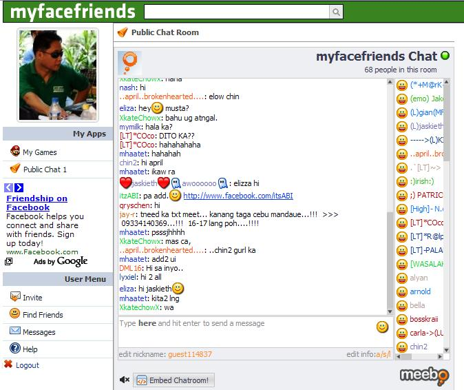Friendster Chat Room