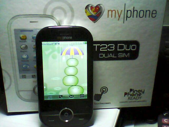 My other current phone--myphone T23 Duo is obviously from China.
