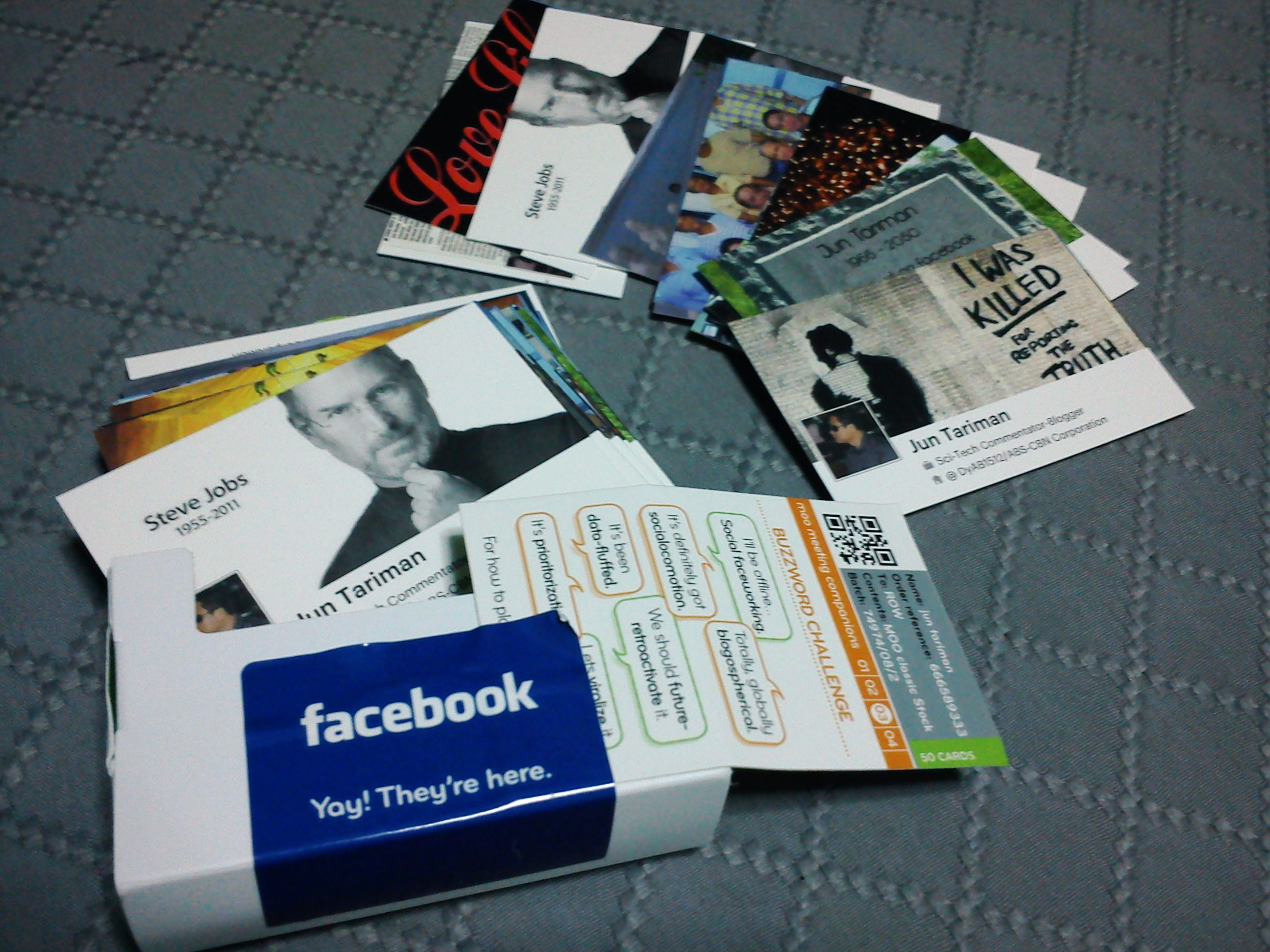 Facebook timeline business cards by moo jun tariman left the 50 pcs business cards reheart Choice Image