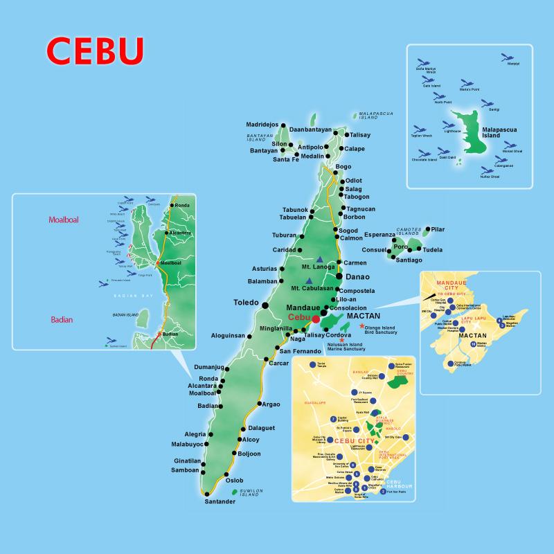 Cebu Enlarged Map
