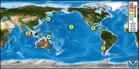 tsunami watch map