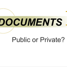 public and private documents