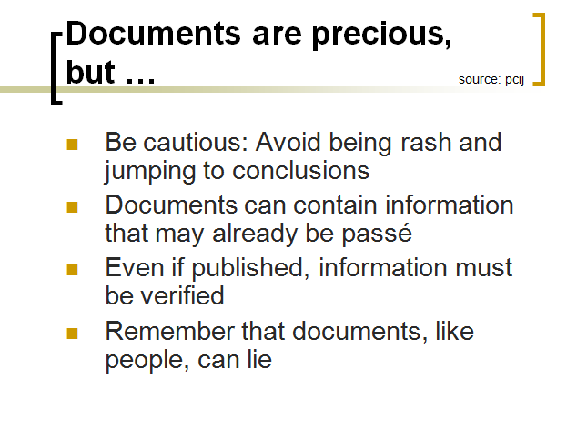 documents are precious
