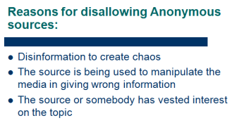 reasons for disallowing anonymous