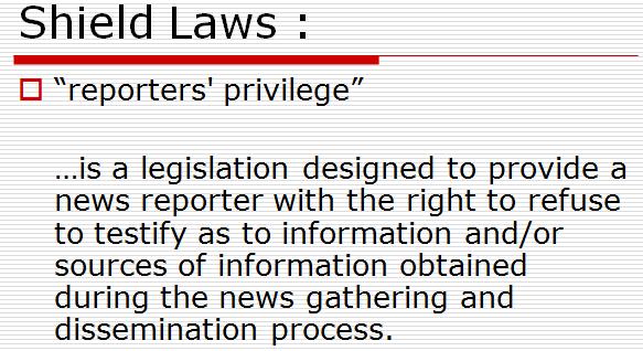 shield law