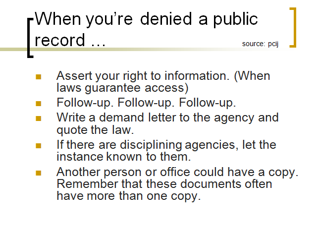 when denied access to records