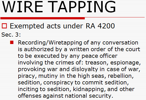 wiretapping exemption