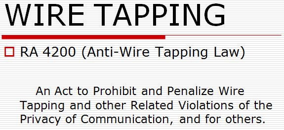 ethics of wiretapping Pdf | usa government wiretapping activities is a very controversial issue undoubtedly this technology canassist law enforced authority to detect / identify unlawful or hostile activities however.