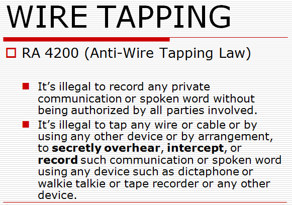 wiretapping prohibited acts