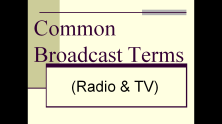 common broadcast terms-COVER
