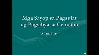 Mga Sayop sa Pagsulat ug Pagsibya sa Cebuano (COVER)